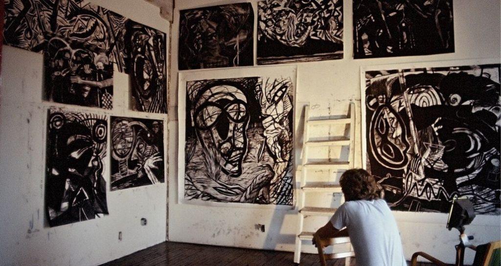 lou ferreri in his studio